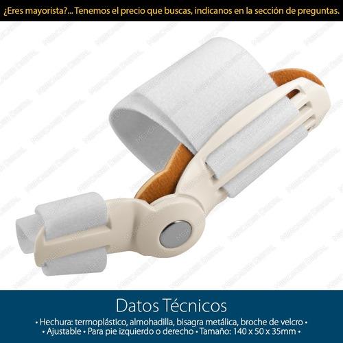 férula corrector de juanete enderezador flexible ortopédico