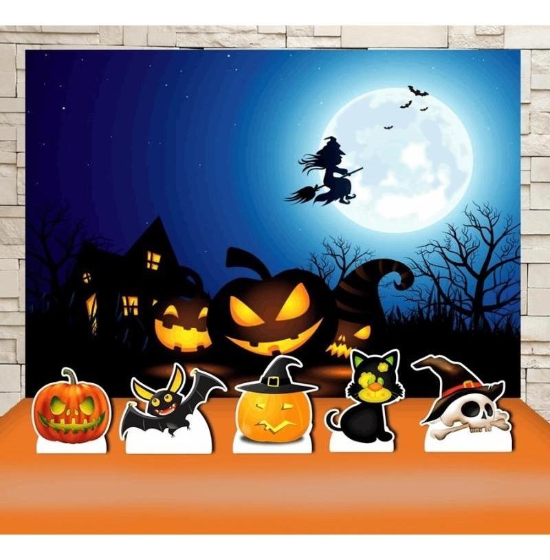 Decoracao De Halloween Para Festa De Aniversario.Festa Aniversario Halloween Decoracao Kit Prata