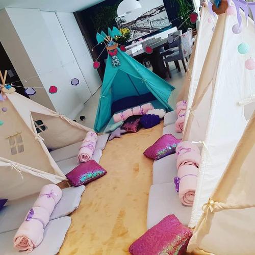 festa do pijama locação de cabanas