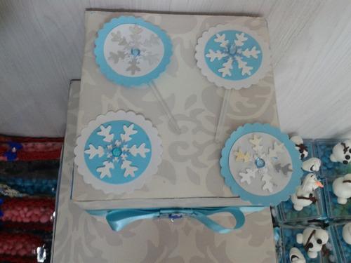festa frozen kit forminhas personalizadas