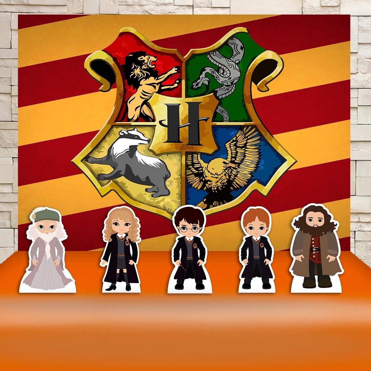 Festa Harry Potter Desenho Kit Painel + Display