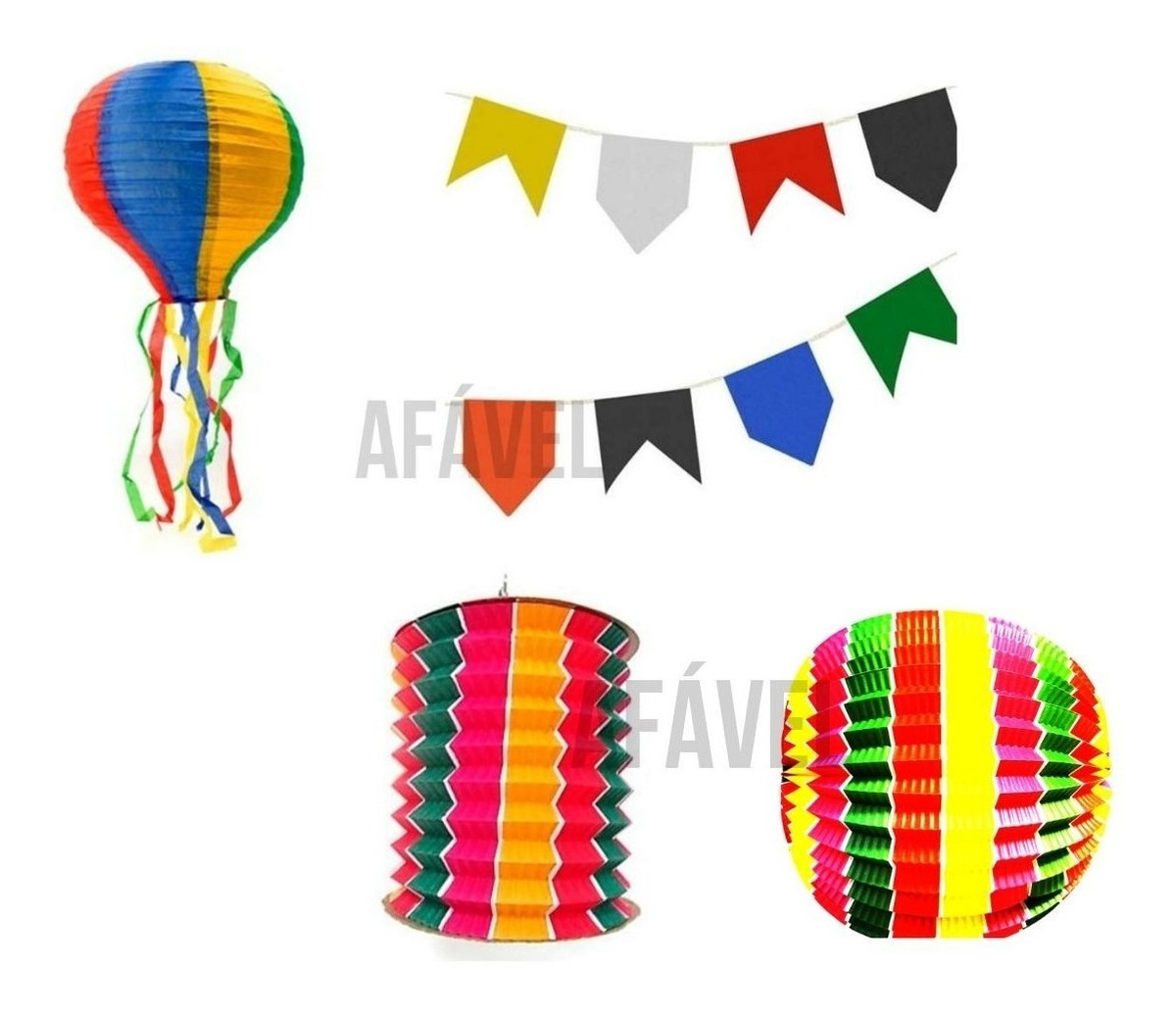 Festa Junina 2019 Arraiá Infantil + Bandeirinhas + Balão Etc