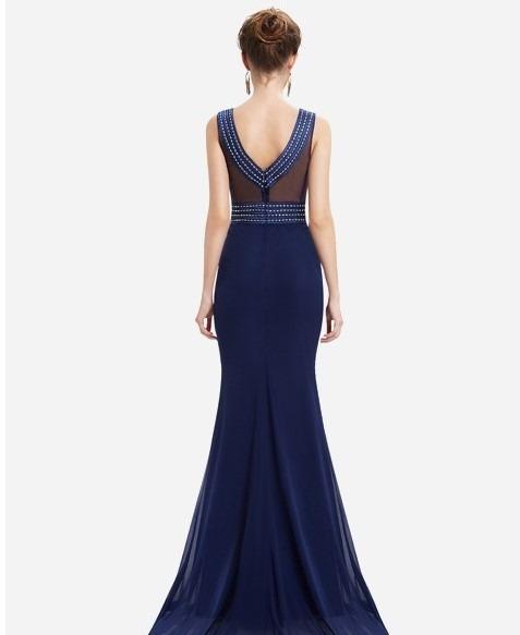 12eeaa70cf festa longo vestido · vestido de festa longo em chiffon bordado azul marinho