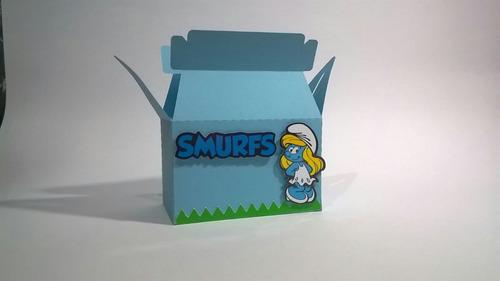 festa smurfs caixinha personalizada