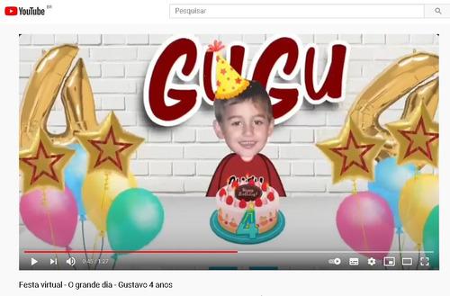 festa virtual - aniversário digital (on line)