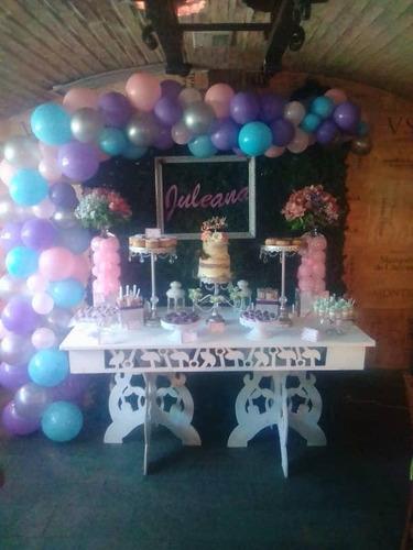 festejo candy bar decoración