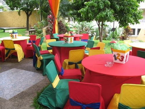 festejos, mesas, sillas, mesones, manteleria.