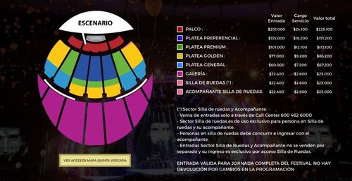 festival de viña 2018 - miercoles 21 luis fonsi (platea prm
