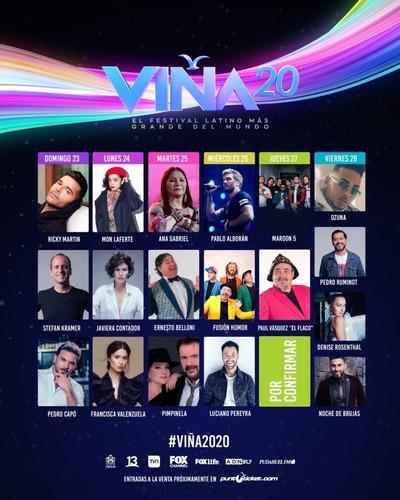 festival de viña 2020 viernes 28 de febrero