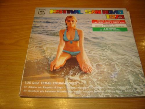 festival san remo 1973  lp argentina  sexy cover celentano