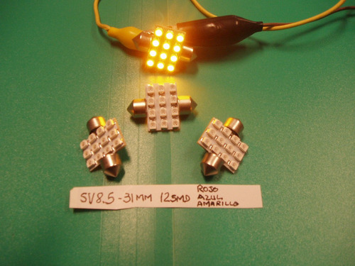 feston sv8,5-31 milimetros- led 3528 12smd rojas.