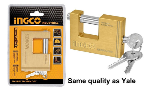ff candado seguridad 70mm rectangular ingco dbbpl0702 bronce