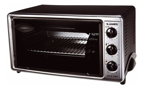 ff horno electrico james 39lts turbo 1650w inoxidable hjti39