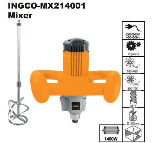ff mezcladora de pintura ingco mx214001 1400w con paleta