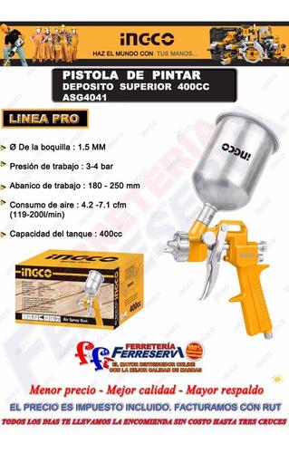 ff pistola pintar 1,5mm 400c auto tunig mueble ingco asg4041