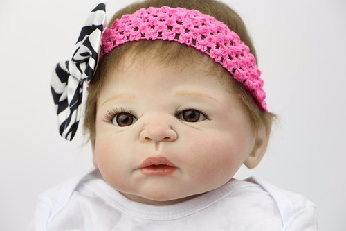 fgts presente bebe boneca reborn toda em vinil siliconado