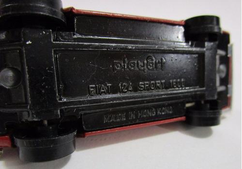 fiat 124 coleccion playart escala 7cm largo juguete antiguo