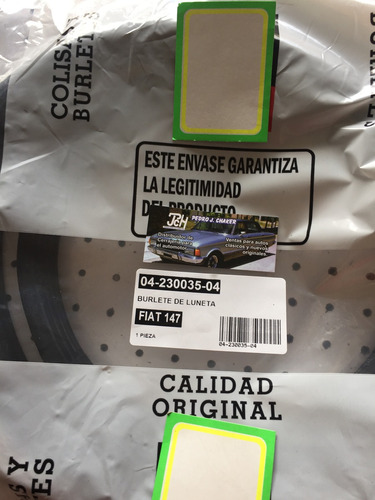 fiat 147 kit bte de capot+ baúl+parabrisas+luneta+puerta
