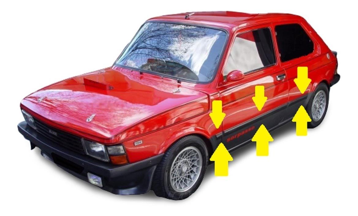 Fiat 147 Sorpasso Iava Baguetas Laterales Molduras Negras