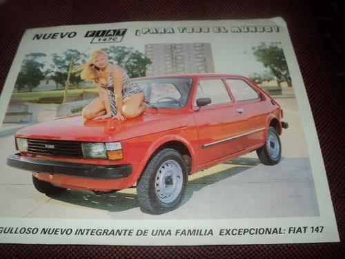 fiat 147c uruguay 1982 folheto
