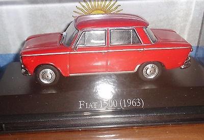 fiat 1500 (1963) con fasciculo auto escala 1/43