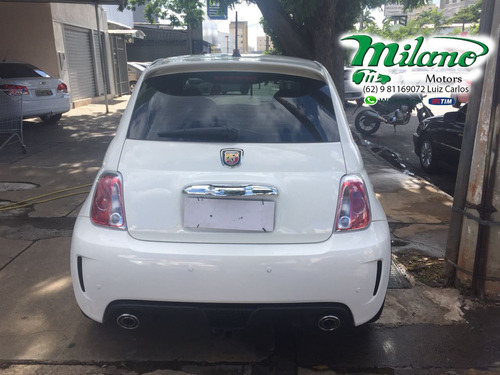 fiat - 500 - 1.4 abarth turbo 16v branco - 2015 / 2015 - gas