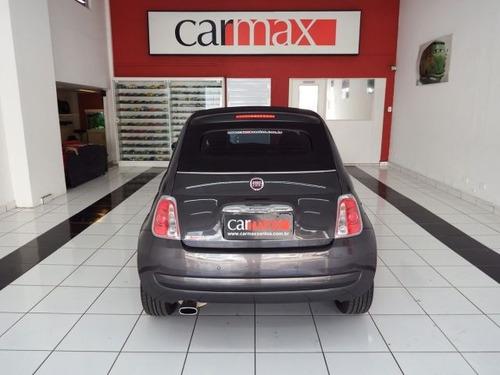 fiat 500 cabrio dualogic 1.4 8v flex, impecável, ftv2912