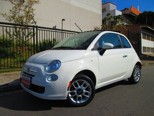 fiat 500 cult 2013 1.4 flex câmbio manual + teto solar !!!