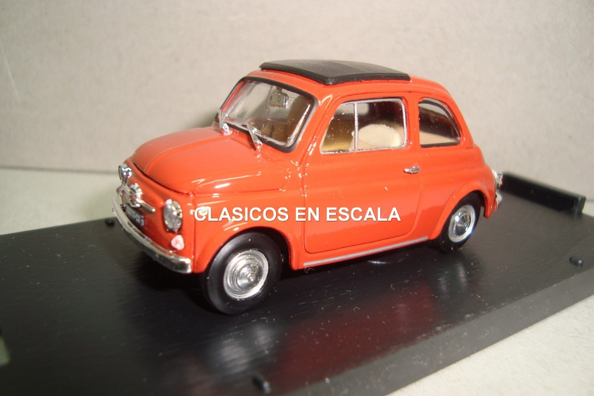 Fiat 500 F Chiusa 1965 Rosso Corallo Brumm 1 43
