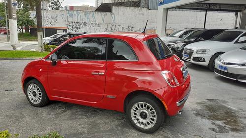 fiat 500 lounge air 1.4 automático 2012 vermelho teto solar