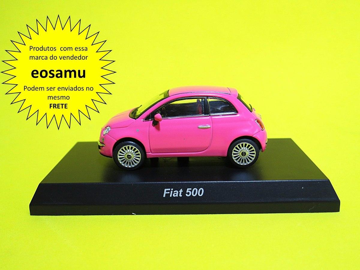 Fiat 500 Rosa Choque Versao On Line Limitada Kyosho 1 64