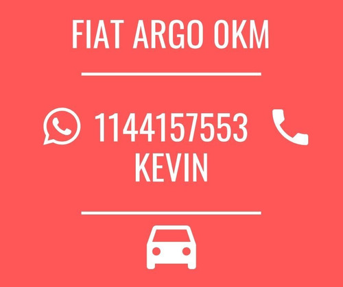fiat argo 1.3 o 1.8 2020 0km - tomo usado - opcion gnc *