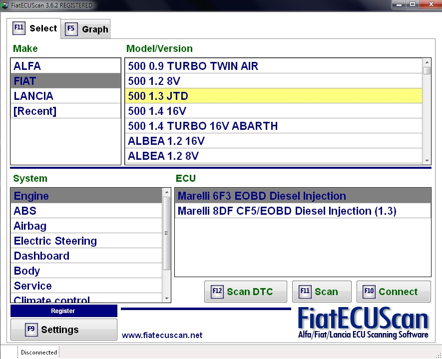 logiciel fiat ecu scan gratuit