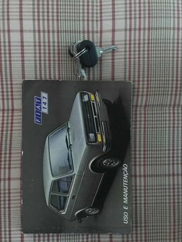 fiat fiat 147 impecável original com manual e chaves resevas