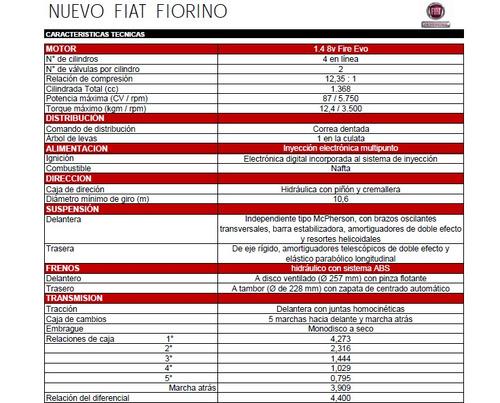fiat fiorino furgón 1.4 8v pack el mejor precio final g