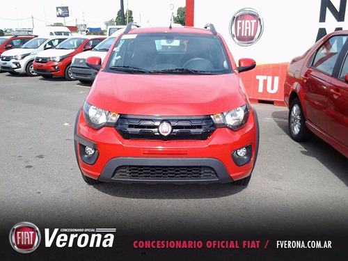 fiat mobi way 1.0 2017 rojo 5 puertas 0km anticipo!!!!