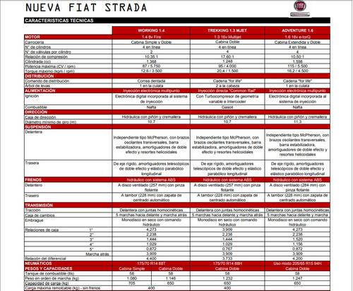 fiat nueva strada adventure 1.6 16v cabina doble 3p br