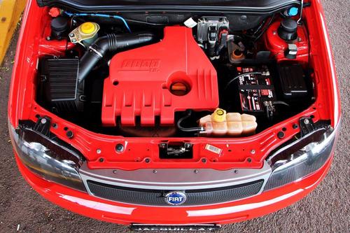 fiat palio 1.8r 2007 vermelho modena, em estado de zero!