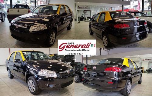 fiat siena el 1.4 0km 2017 attractive taxi negro gnc #ca1