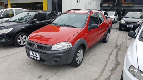 fiat strada 2014 working doble cabina km. 58000 roja