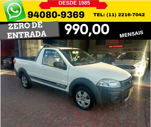 fiat strada hard working flex 2016 2017 zero de entrada