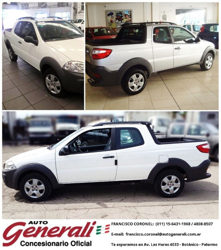fiat strada working 1.4 c doble (3ra puerta) 120 mil out flh