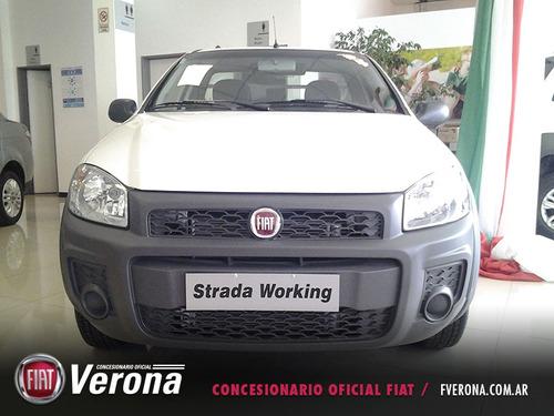 fiat strada working c/d 1.4 2017 blanca 2 puertas 0km