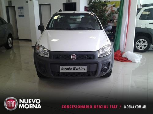 fiat strada working c/simple 1.4 8v 2017 blanca 2 puertas