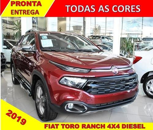 fiat toro ranch 2019 0km / p. entrega / top de linha