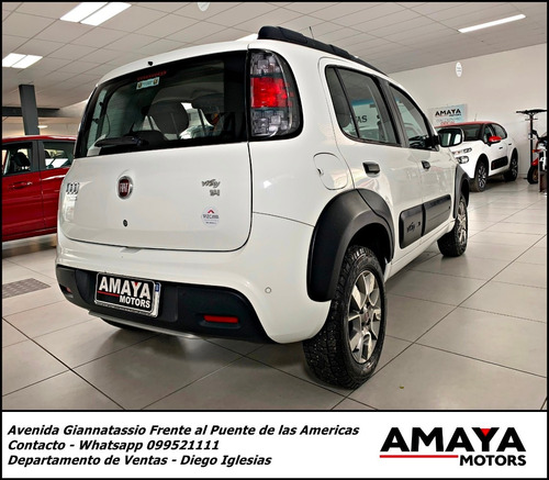 fiat uno evo way 1.4 l 2017 extra full impecable !! amaya