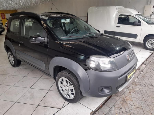 fiat uno way 1.0 8v flex 2012 preto doc ok