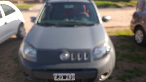fiat uno way 1.4 2011 gris 5 puertas