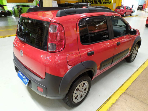 fiat uno way 1.4 vermelho 2012 (completo)