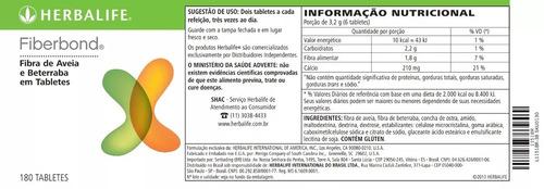 fiberbond herbalife 180 tabletes